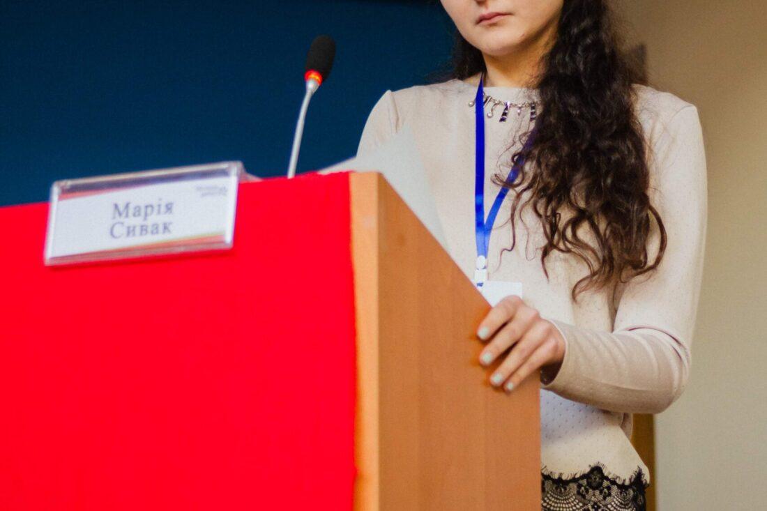 Фіналістка національного дебатного турніру «Молодь дебатує» — Марія Сивак, м.Тернопіль