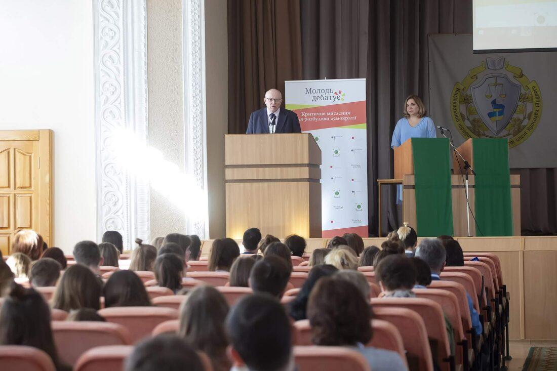 Звернення Генерального консула Федеративної Республіки Німеччина Вольфганга Мьоссінгера до учасників національного дебатного турніру «Молодь дебатує»