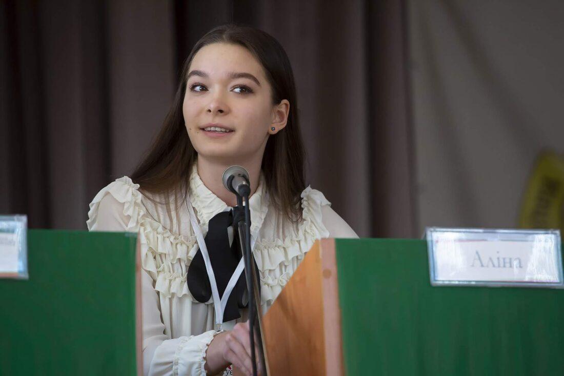 Фіналістка національного дебатного турніру «Молодь дебатує» Аліна Угрімова, м.Костянтинівка