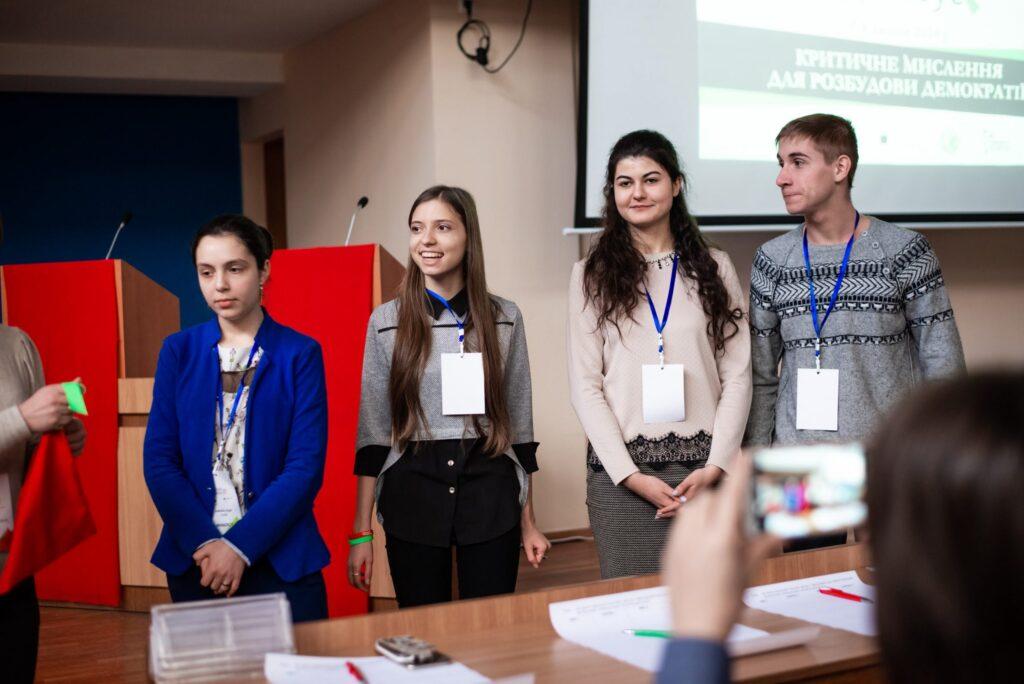 Фіналісти дебатів. Фото надане організаторами