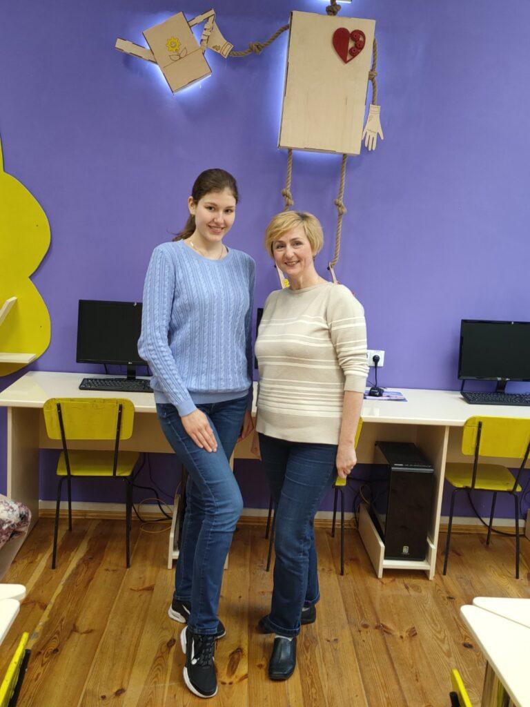 Анастасія Попело з викладачем і тренером Іриною Корх